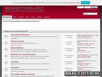 Zrzut strony Kosmetyczki.net - serwis kosmetyczek i kosmetologów