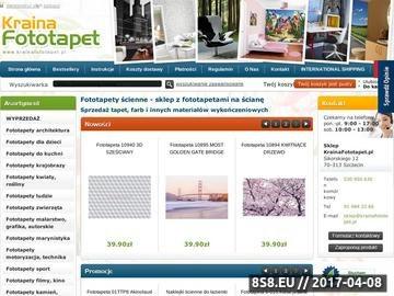 Zrzut strony Fototapety na ścianę