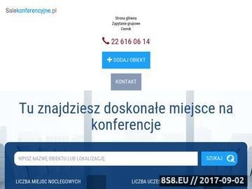 Zrzut strony Sale konferencyjne Kraków