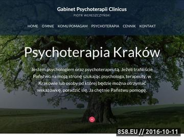 Zrzut strony Psycholog Kraków - Piotr Wereszczyński