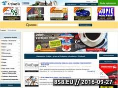 Miniaturka www.krakusik.pl (Ogłoszenia sprzedaży, kupna i pracy z Krakowa)