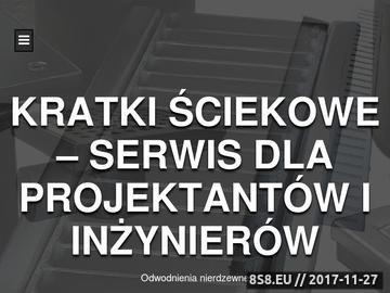 Zrzut strony Kratki ściekowe - serwis informacyjny