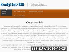 Miniaturka kredytbezbik24.pl (Porównanie najlepszych ofert szybkich pożyczek)