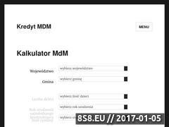 Miniaturka kredytmdm.pl (Strona oblicza wysokość dofinansowania MdM)