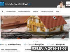 Miniaturka domeny www.kredyty-mieszkaniowe.eu