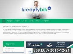 Miniaturka domeny www.kredytybik.pl