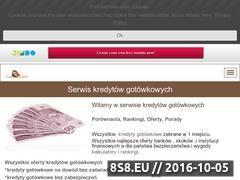 Miniaturka domeny kredytygotowkowe.jimdo.com