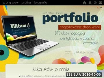 Zrzut strony Krzysztof Lewicki - Projektowanie stron www, portfolio.