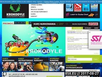 Zrzut strony Wyjazdy nurkowe, kursy nurkowania Warszawa - Krokodyle.com.pl