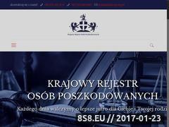Miniaturka krop.org.pl (Krajowy rejestr osób poszkodowanych)