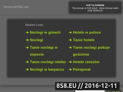 Miniaturka domeny www.kroscienko.eu