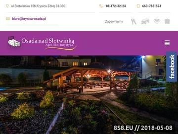 Zrzut strony Osada nad Słotwinką - Krynica Zdrój
