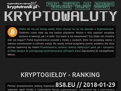 Miniaturka kryptotronik.pl (Strona z informacjami o kryptowalutach)