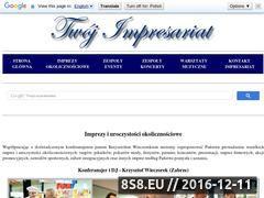 Miniaturka domeny krzysztofwieczorek.twoj-impresariat.pl