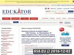 Miniaturka domeny www.ksiegarniaedukator.pl