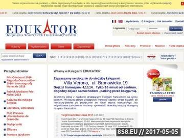 Zrzut strony Edukator Księgarnia Francuska