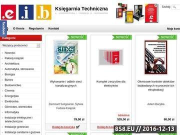 Zrzut strony Księgarnia Techniczna