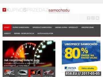 Zrzut strony Kupno, sprzedaż samochodu