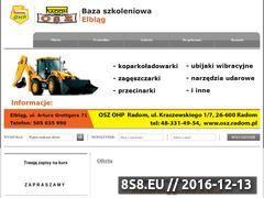 Miniaturka domeny kurs-operatora-koparkoladowarki-elblag.pl