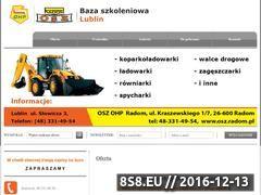 Miniaturka domeny kurs-operatora-koparkoladowarki-lublin.pl