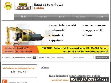 Zrzut strony Kurs operatora koparkoładowarki Lublin