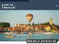 Miniaturka kursnamikolajki.pl (Noclegi, atrakcje i restauracje w Mikołajkach)