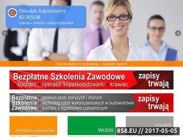 Zrzut strony Szkolenia Lublin Kursor