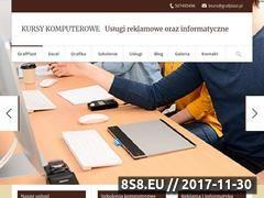 Miniaturka www.kursy-komputerowe.gniezno.pl (Kursy komputerowe, usługi reklama i informatyka)