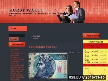 Zrzut strony Kursy walut - online