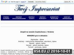 Miniaturka domeny kwadro.twoj-impresariat.pl