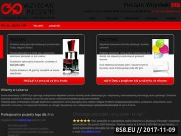 Zrzut strony Druk cyfrowy pieczątki - wizytówki