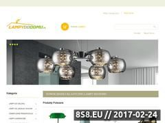Miniaturka domeny www.lampydodomu.pl