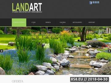 Zrzut strony LAND-ART projektowanie zakładanie ogrodów Wrocław