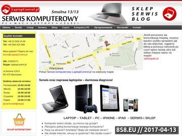 Zrzut strony Laptopcontrol.pl +48500410389 serwis laptopów Warszawa - diagnoza, skup