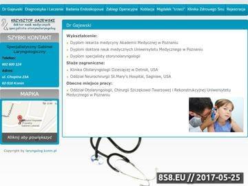 Zrzut strony Prywatny laryngolog, Konin, Krzysztof Gajewski