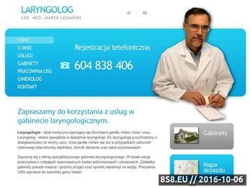 Zrzut strony Laryngolog Swarzęc - zabiegi laryngologiczne
