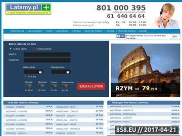 Zrzut strony Ryanair, Wizzair, Lot - bilety lotnicze.