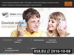 Miniaturka domeny latwe-oszczedzanie.pl
