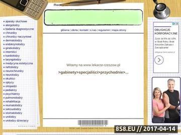 Zrzut strony Lekarze, informacja medyczna - Rzeszów