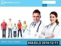 Miniaturka domeny www.lekarzeopole.pl
