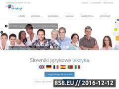 Miniaturka domeny www.leksyka.pl