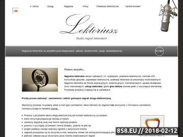 Zrzut strony Nagrania lektorskie, powitania i zapowiedzi telefoniczne, reklamy
