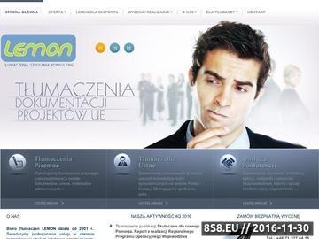 Zrzut strony Biuro Tłumaczeń Lemon Wrocław