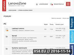 Miniaturka lenovotechzone.pl (Bezpłatne porady IT)