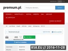 Miniaturka domeny www.lesneranczo.pl