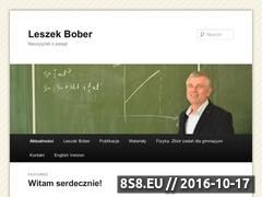 Miniaturka leszekbober.pl (Leszek Bober - fizyka z pasją!)