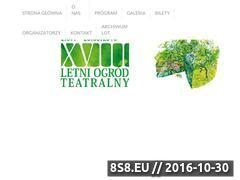 Miniaturka domeny www.letniogrodteatralny.pl