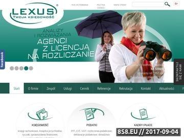 Zrzut strony Usługi księgowe dla przedsiębiorców