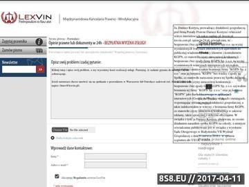 Zrzut strony Porady prawne przez internet - LexVin