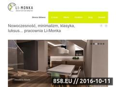 Miniaturka Strona oferująca projekty aranżacji wnętrz (www.li-monka.pl)